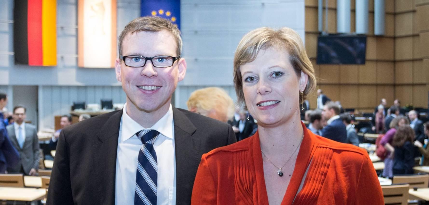 Cornelia Seibeld mit Florian Graf, Fraktionsvorsitzender der CDU im Abgeordnetenhaus